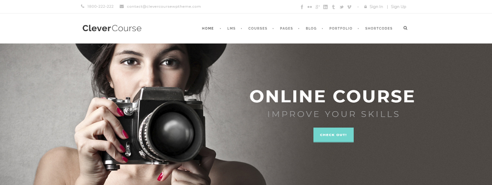 Clever Course is a standalone WordPress LMS theme that lets you create and sell online courses
