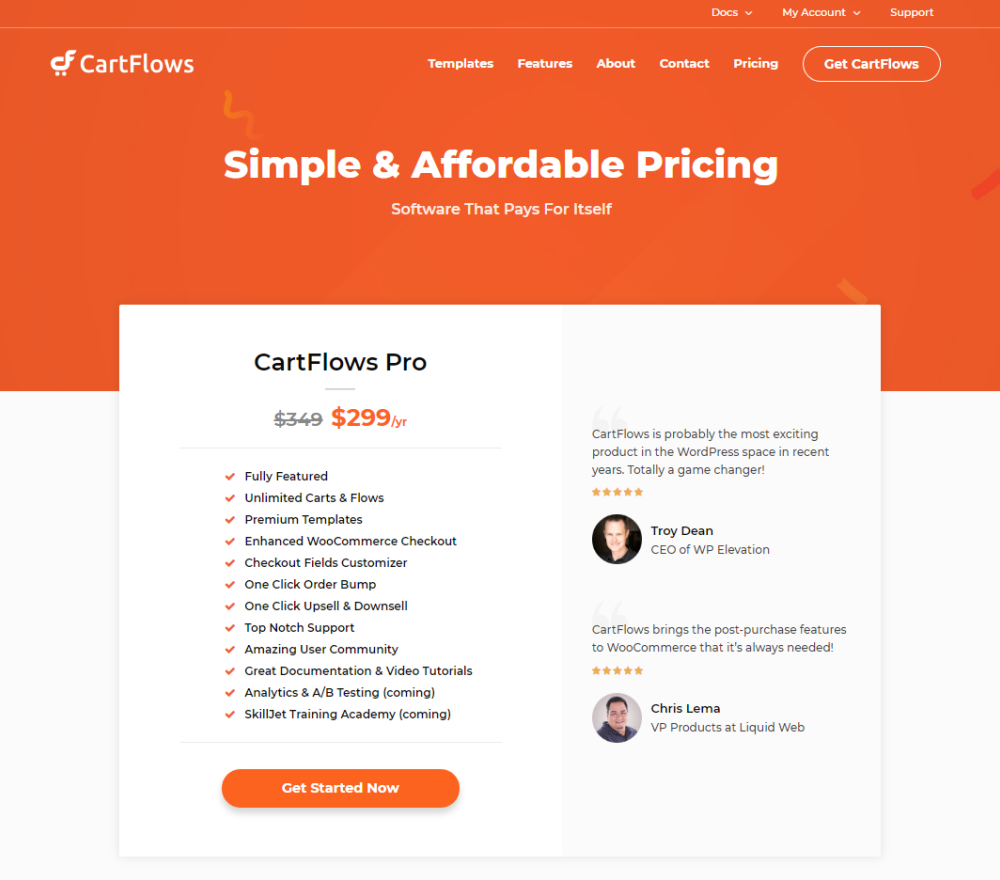 CartFlows plans-and-pricing