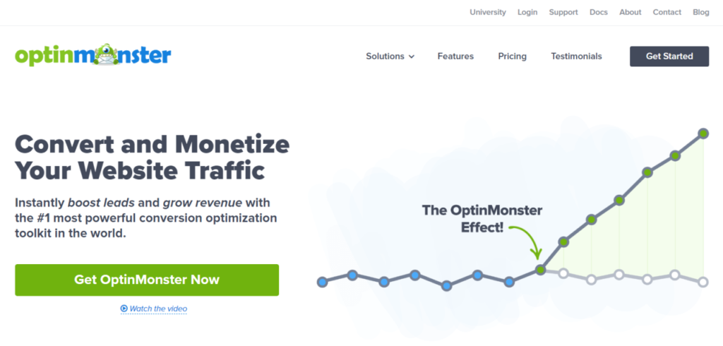 OptinMonster is a high-performing WordPress