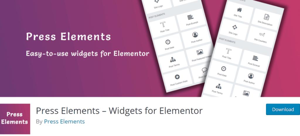Press Elements – Widgets for Elementor