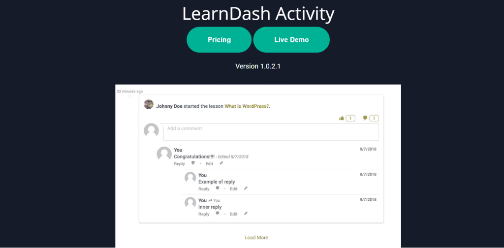 Learndash Activity Plugin