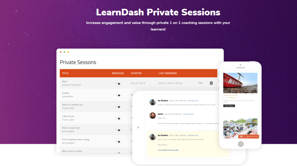 LearnDash Private Session