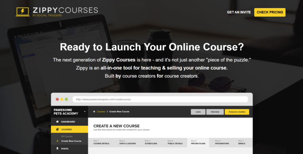 Zippy Courses offers an all-in-one solution