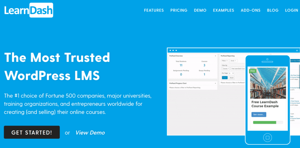 LearnDash is a widely-used online course software
