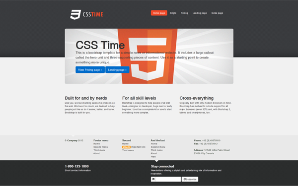 Free html website template with slider 83 free bootstrap themes.