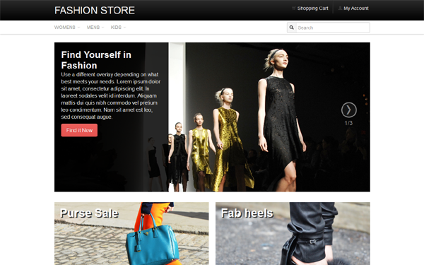 Best Bootstrap E-commerce Theme
