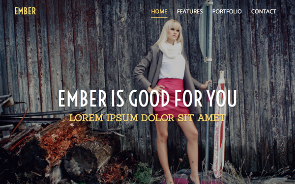 Ember - One Page Responsive Theme
