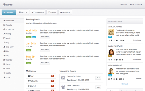Get more bootstrap themes web database applications in minutes awesome admin maxwellsz