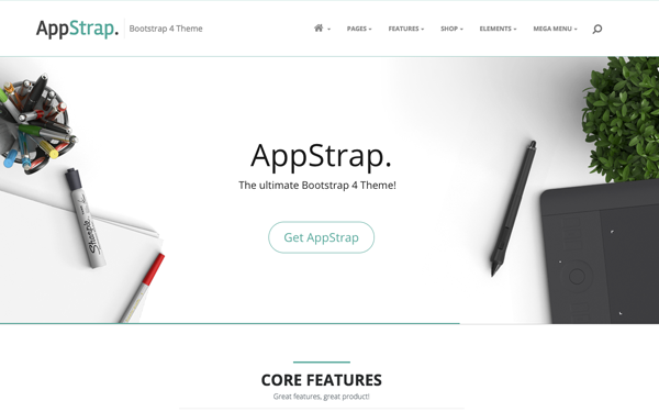 AppStrap Responsive App Theme