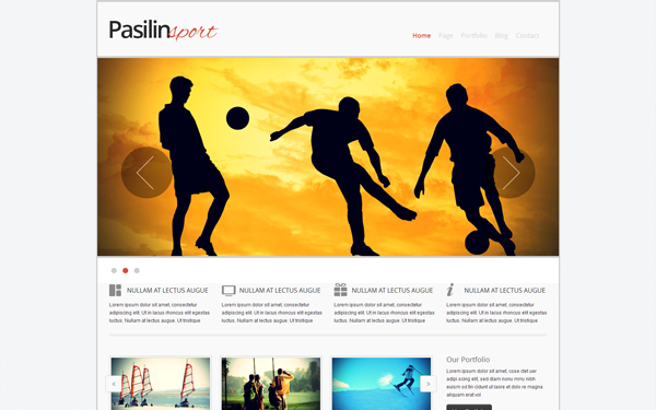 pasilin sport responsive template selling for 14 00
