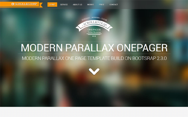 SCROLLSTRAP - Modern Parallax One-Pager