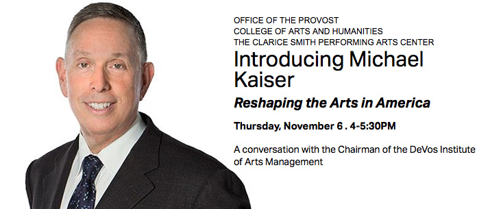 Introducing Michael Kaiser Reshaping the Arts in America