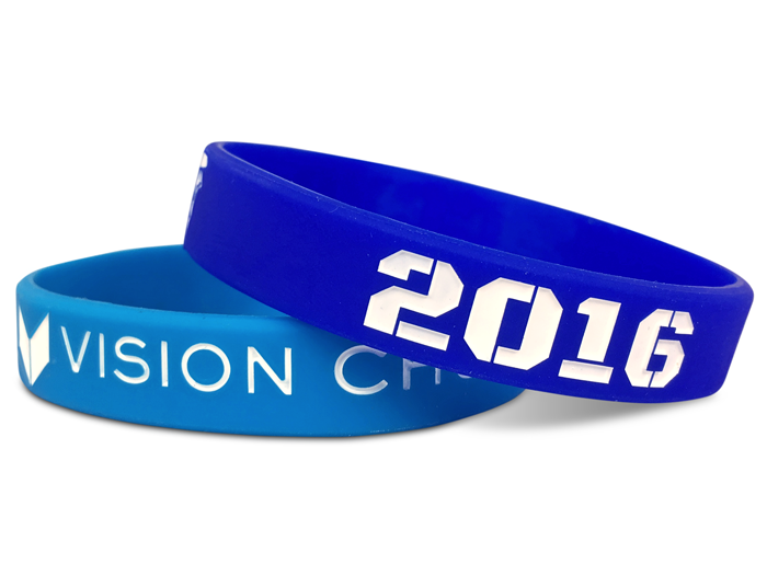 "1/2"" Silicone Wristband customized for our customers"