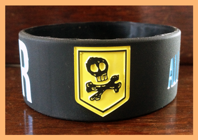 "1"" Silicone Wristband custom designed for All Time Low"
