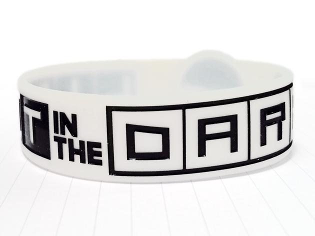 Die Cut Silicone Wristband custom made for CYM