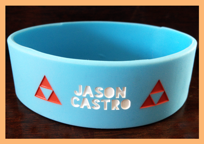 "1"" Silicone Wristband custom made for Jason Castro Wristband"