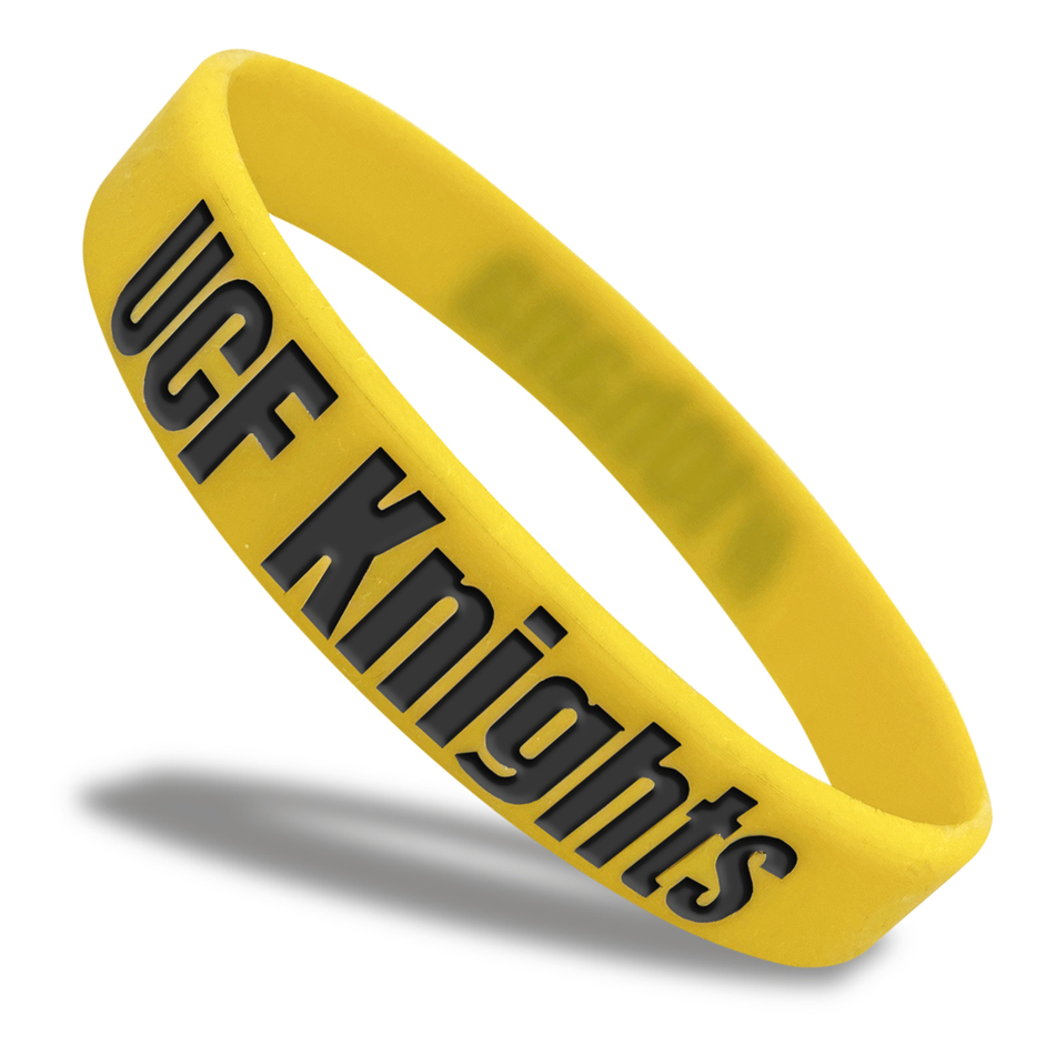 UCF Knights Classic Silicone Wristband custom made for a customer