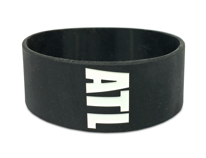 Ultra Wide Silicone Wristband custom made for All Time Low Fan Club
