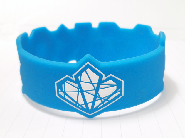 Die Cut Silicone Wristband custom made for Angkor