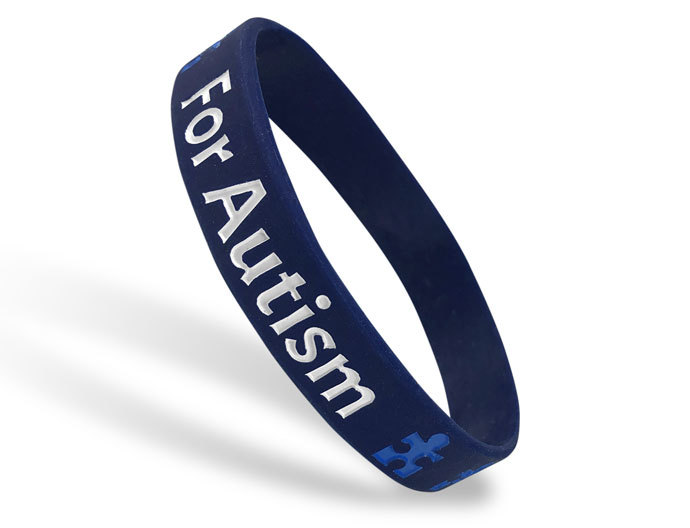 Classic Silicone Wristband custom made for For Autism