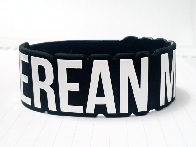 Die Cut Silicone Wristband custom made for Berean Music
