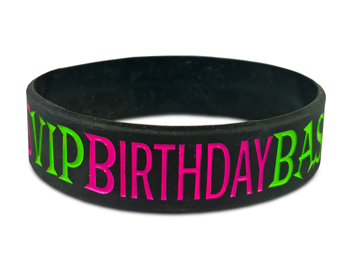 Wide Silicone Wristband custom made for a customer