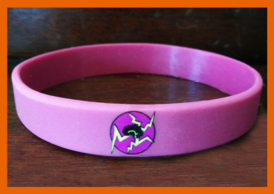 "1/2"" Silicone Wristband custom made for Electric Brain"