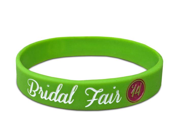 "1/2"" Silicone Wristband custom made for Bridal Fair"