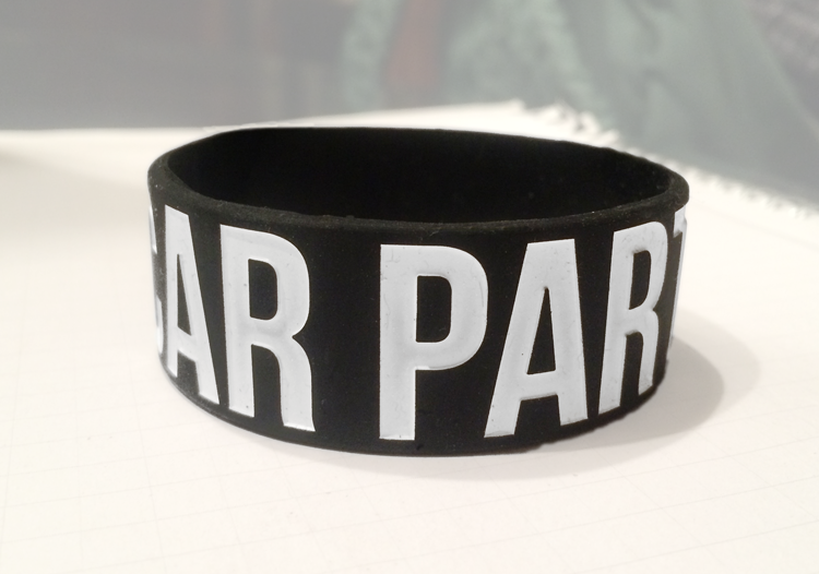 Ultra Wide Silicone Wristband custom made for Car Party