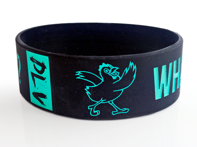"1"" Silicone Wristband custom made for The Chicken Semi-Formal Dance"