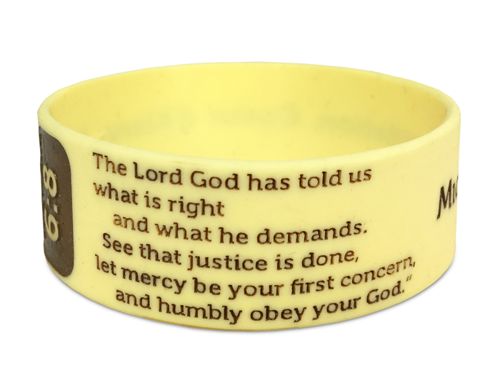 "1"" Silicone Wristband custom made for a Church Group"
