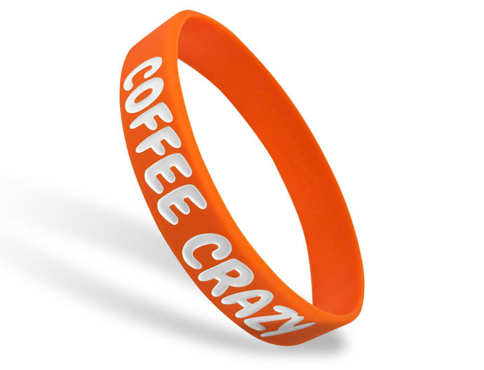 Classic Silicone Wristband custom made for Coffee Crazy