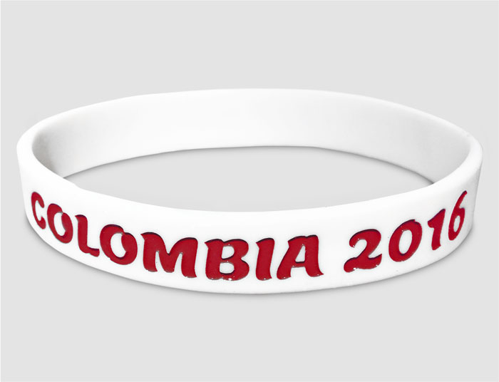 "1/2"" Silicone Wristband custom made for Columbia 2016"