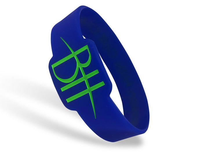 Die Cut Silicone Wristband custom made for BH