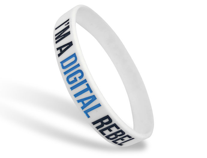 Classic Silicone Wristband custom made for Digital Rebel