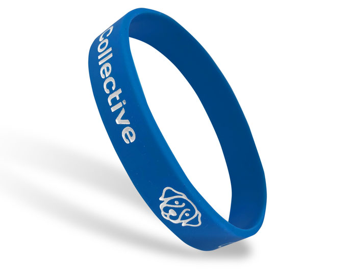 Classic Silicone Wristband custom made for Dog Face Logo