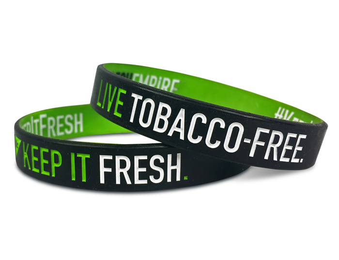 "1/2"" Silicone Wristband custom designed for our customers"