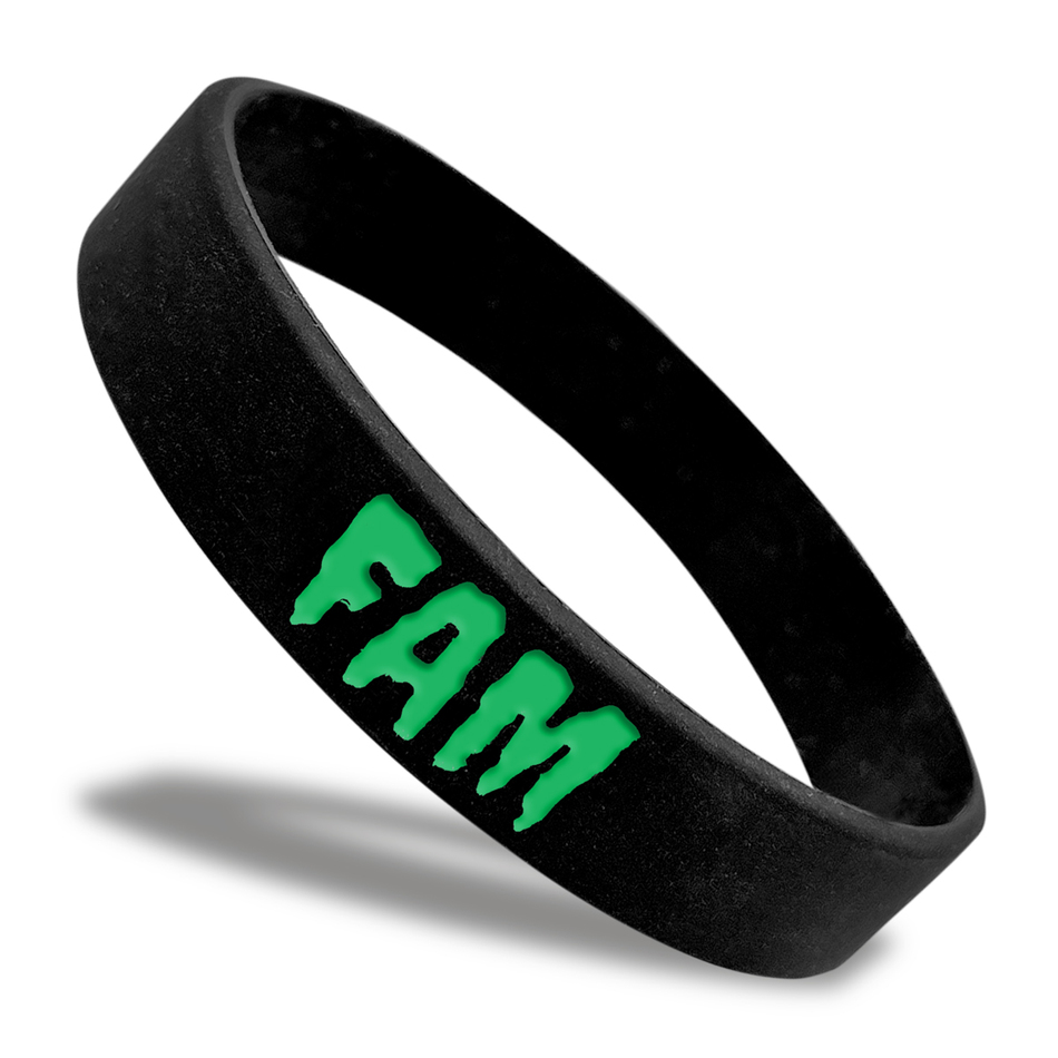 Fam Classic Silicone Wristband custom made for a customer