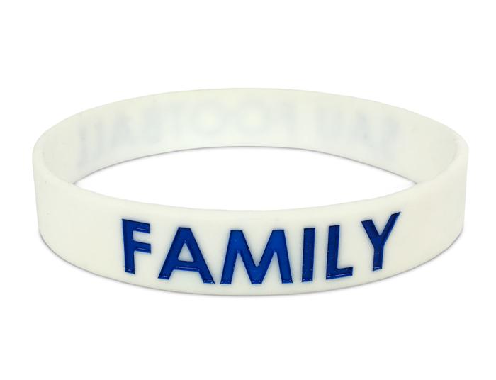 """1/2"""" Silicone Wristband custom made for a Family Reunion"""
