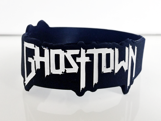 Die Cut Silicone Wristband custom made for Ghost Town
