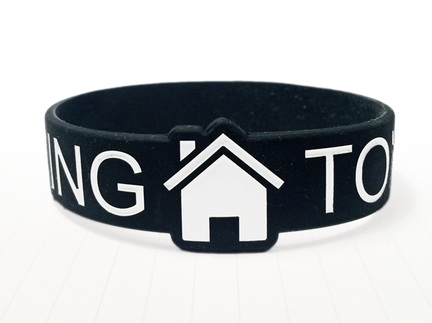 Die Cut Silicone Wristband custom made for Ain't Going Home Tonight