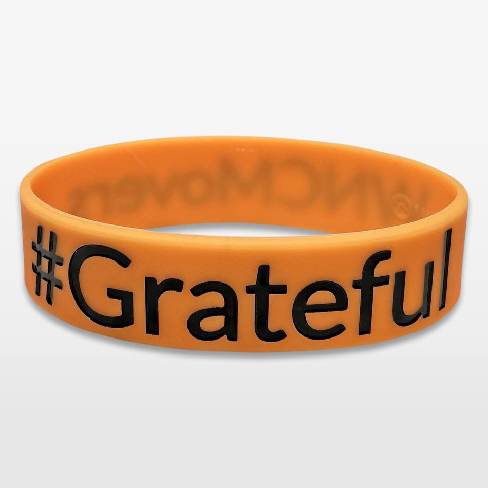 #Grateful Wide Silicone Wristband custom made for a customer