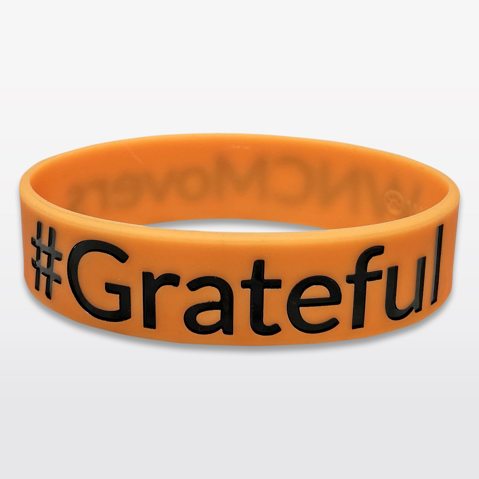 #Grateful Wide Silicone Wristband custom made for a customer
