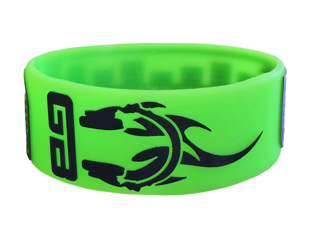 "1"" Silicone Wristband custom made for Groove Boston"