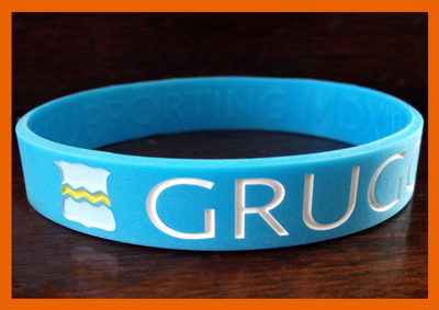 "1/2"" Silicone Wristband customized for Gruggen!"