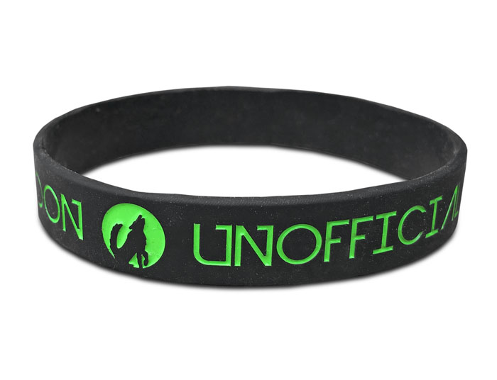 """1/2"""" Silicone Wristband custom made for unofficial event"""