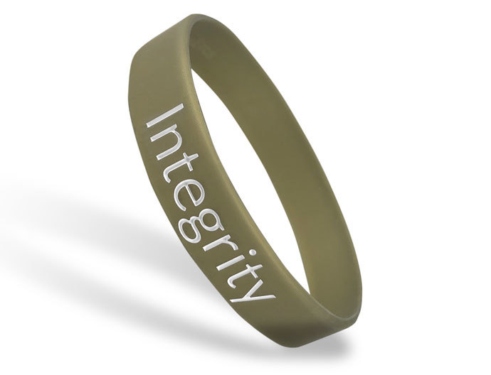 Classic Silicone Wristband custom made for Integrity