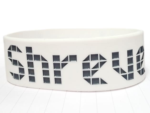 Ultra Wide Silicone Wristband custom made for Karsten Shreve