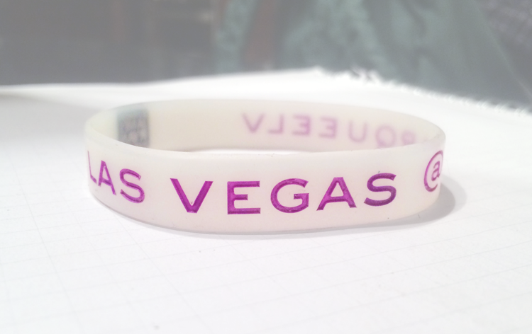 Classic Silicone Wristband custom made for Las Vegas