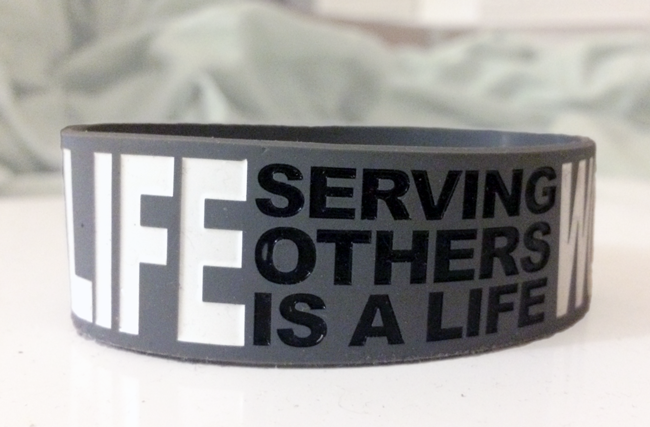 Ultra Wide Silicone Wristband custom made for Ovation Company